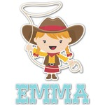 Cowgirl Graphic Decal - Custom Sizes (Personalized)