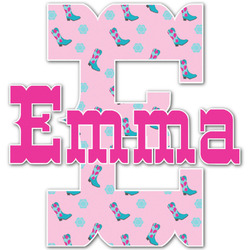 Cowgirl Name & Initial Decal - Custom Sized (Personalized)