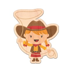 Cowgirl Genuine Wood Sticker (Personalized)