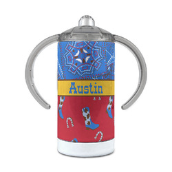 Cowboy 12 oz Stainless Steel Sippy Cup (Personalized)