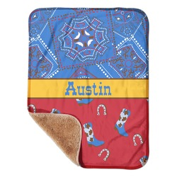 "Cowboy Sherpa Baby Blanket 30"" x 40"" (Personalized)"