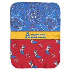 Cowboy Baby Swaddling Blanket (Personalized)