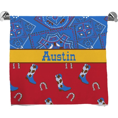 Cowboy Full Print Bath Towel (Personalized)