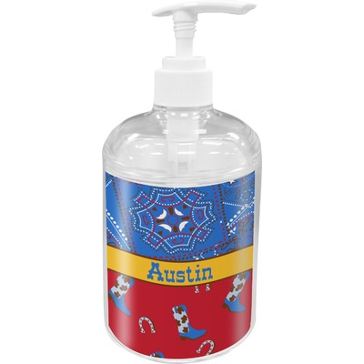 Cowboy Acrylic Soap & Lotion Bottle (Personalized)