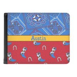 Cowboy Genuine Leather Men's Bi-fold Wallet (Personalized)