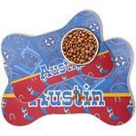Cowboy Bone Shaped Dog Food Mat (Personalized)