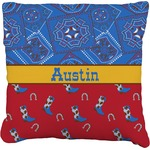 Cowboy Faux-Linen Throw Pillow (Personalized)