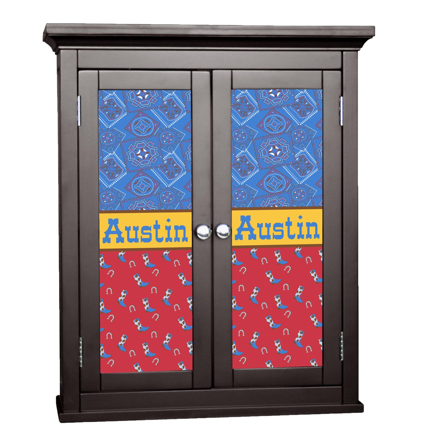 Cowboy cabinet decal large personalized you customize it for Kitchen cabinets lowes with how to make decal stickers