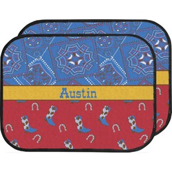 Cowboy Car Floor Mats (Back Seat) (Personalized)