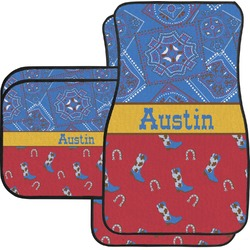 Cowboy Car Floor Mats (Personalized)