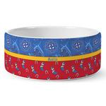 Cowboy Ceramic Dog Bowl (Personalized)