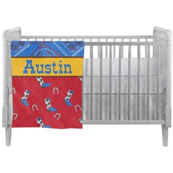 Cowboy Crib Comforter / Quilt (Personalized)