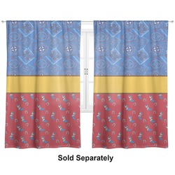 "Cowboy Curtains - 20""x63"" Panels - Unlined (2 Panels Per Set) (Personalized)"
