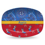 Cowboy Plastic Platter - Microwave & Oven Safe Composite Polymer (Personalized)