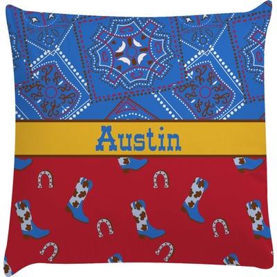 Cowboy Decorative Pillow Case (Personalized)