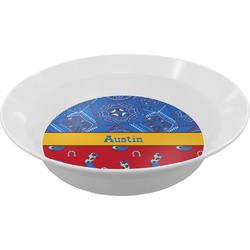 Cowboy Melamine Bowl (Personalized)