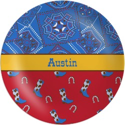 Cowboy Melamine Plate (Personalized)