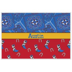 Cowboy Laminated Placemat w/ Name or Text