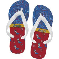 Cowboy Flip Flops (Personalized)