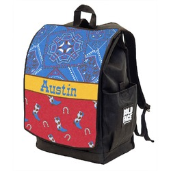Cowboy Backpack w/ Front Flap  (Personalized)