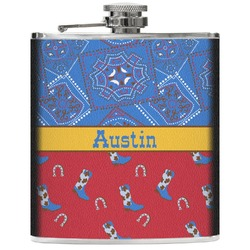 Cowboy Genuine Leather Flask (Personalized)