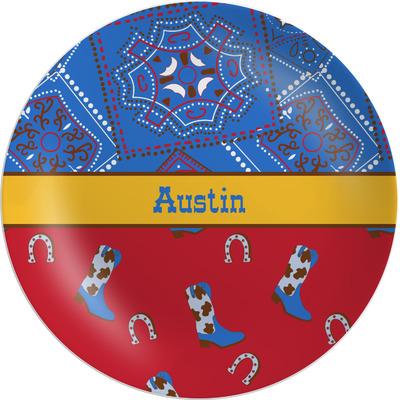 Cowboy Melamine Plate (Personalized)