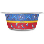 Cowboy Stainless Steel Dog Bowl (Personalized)