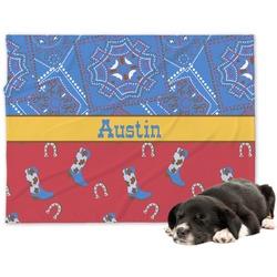 Cowboy Dog Blanket (Personalized)