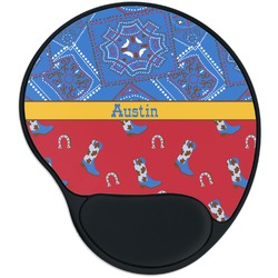Cowboy Mouse Pad with Wrist Support