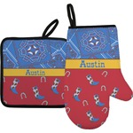 Cowboy Oven Mitt & Pot Holder (Personalized)