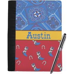 Cowboy Notebook Padfolio (Personalized)