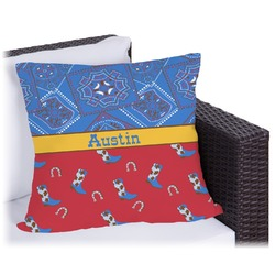 Cowboy Outdoor Pillow (Personalized)