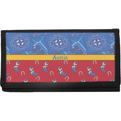 Cowboy Canvas Checkbook Cover (Personalized)