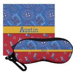 Cowboy Eyeglass Case & Cloth (Personalized)