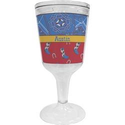 Cowboy Wine Tumbler - 11 oz Plastic (Personalized)
