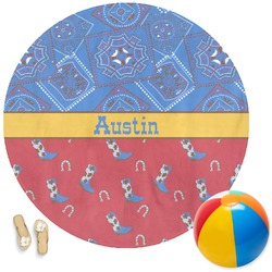 Cowboy Round Beach Towel (Personalized)