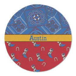 Cowboy Round Linen Placemat (Personalized)