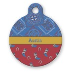 Cowboy Round Pet Tag (Personalized)