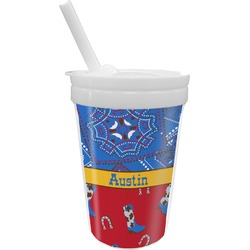 Cowboy Sippy Cup with Straw (Personalized)