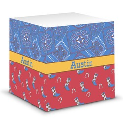 Cowboy Sticky Note Cube (Personalized)