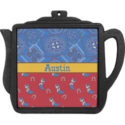 Cowboy Teapot Trivet (Personalized)