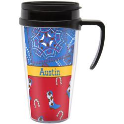 Cowboy Travel Mug with Handle (Personalized)
