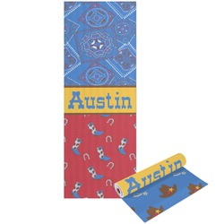 Cowboy Yoga Mat - Printable Front and Back (Personalized)