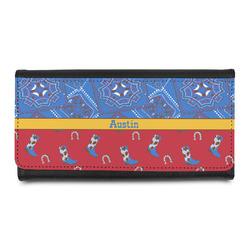 Cowboy Leatherette Ladies Wallet (Personalized)