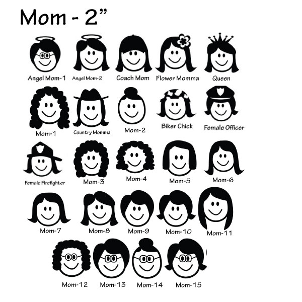 The gallery for --> Family Car Stickers Mom