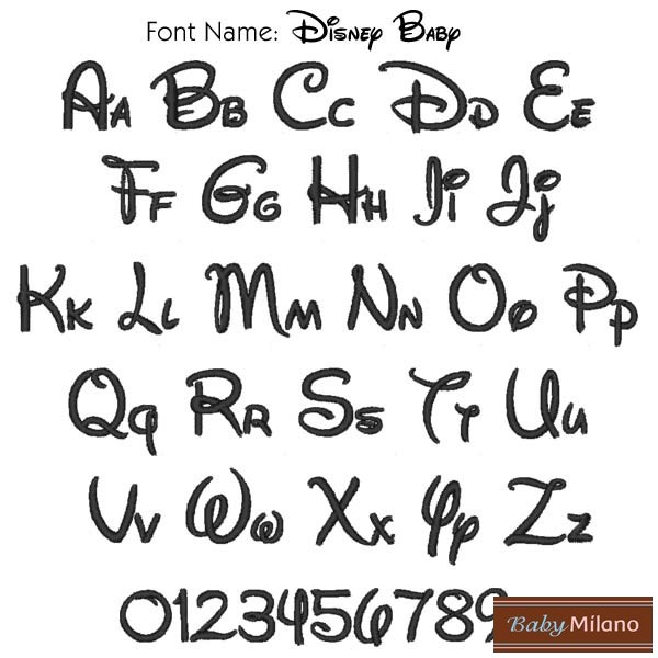 disney font Colouring Pages