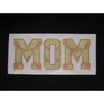 Rhinestone MOM with Softball Laces Iron On