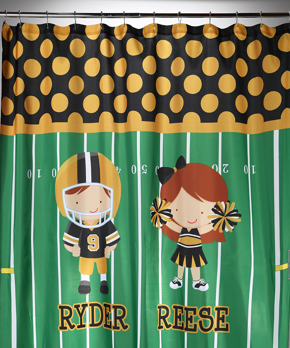 Football Shower Curtain Personalized Sizes