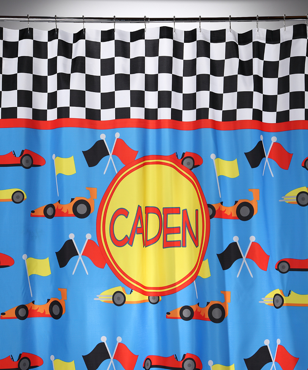 Racing Car Shower Curtain Personalized