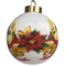 Ceramic Christmas Ornament Poinsettias (Back View)